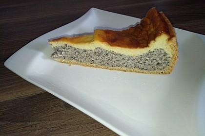 Mohnkuchen mit Schmand und Vanillepudding 4