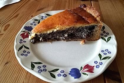 Mohnkuchen mit Schmand und Vanillepudding 8