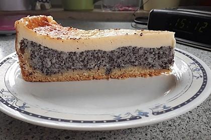 Mohnkuchen mit Schmand und Vanillepudding 6