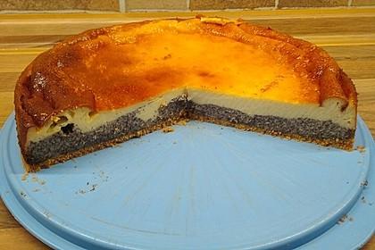 Mohnkuchen mit Schmand und Vanillepudding 15