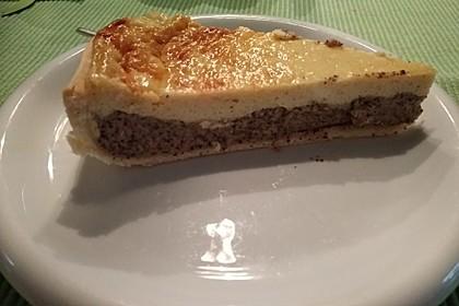 Mohnkuchen mit Schmand und Vanillepudding 13