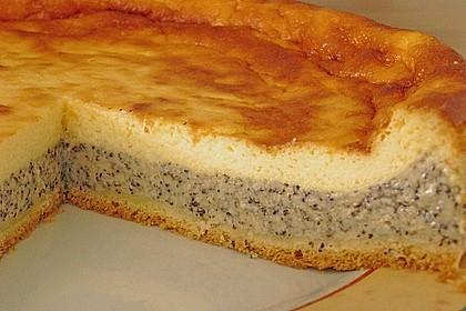Mohnkuchen mit Schmand und Vanillepudding 2