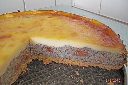 Mohnkuchen mit Schmand und Vanillepudding 18