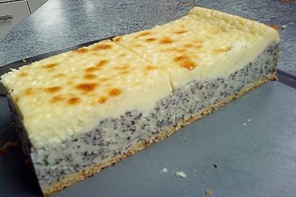 Mohnkuchen mit Schmand und Vanillepudding 3