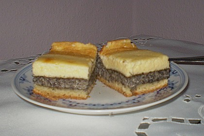 Mohnkuchen mit Schmand und Vanillepudding 24