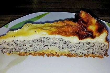 Mohnkuchen mit Schmand und Vanillepudding 11
