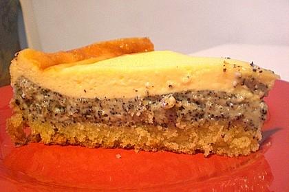 Mohnkuchen mit Schmand und Vanillepudding 10