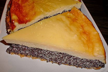 Mohnkuchen mit Schmand und Vanillepudding 9