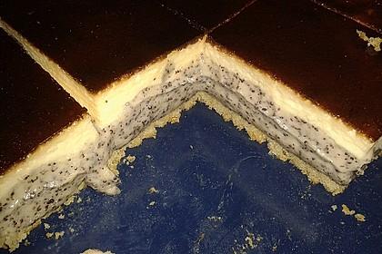 Mohnkuchen mit Schmand und Vanillepudding 16