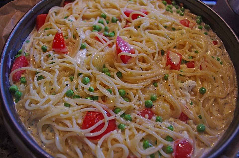 Spaghetti Torte Mit Tomatensauce Von Taini Chefkoch De