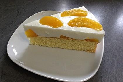 Pfirsich - Joghurt Torte mit Vanillehauch 22