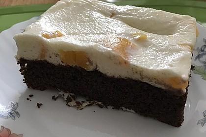 Pfirsich - Joghurt Torte mit Vanillehauch 1