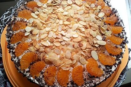 Pfirsich - Joghurt Torte mit Vanillehauch 8