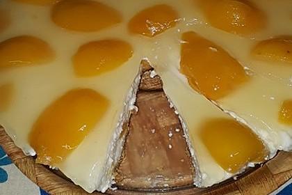 Pfirsich - Joghurt Torte mit Vanillehauch 20