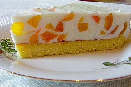 Pfirsich - Joghurt Torte mit Vanillehauch 2