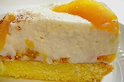 Pfirsich - Joghurt Torte mit Vanillehauch 17