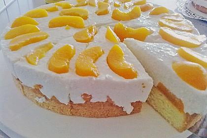 Pfirsich - Joghurt Torte mit Vanillehauch 7
