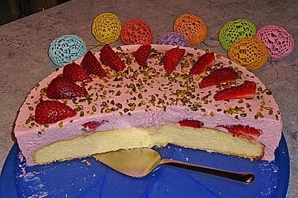 Pfirsich - Joghurt Torte mit Vanillehauch 30