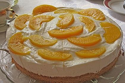 Pfirsich - Joghurt Torte mit Vanillehauch 9