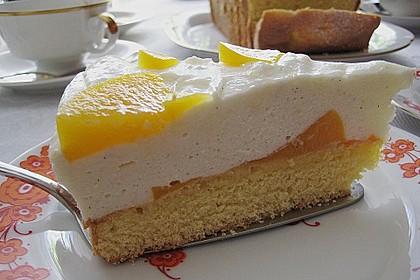 Pfirsich - Joghurt Torte mit Vanillehauch 14