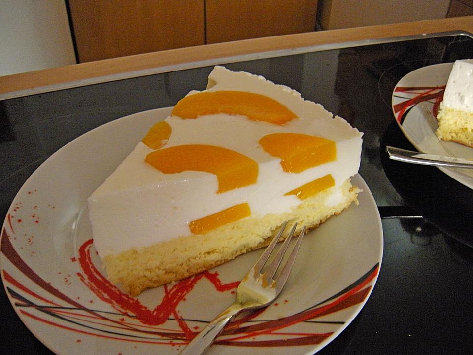 Pfirsich Joghurt Torte Mit Vanillehauch