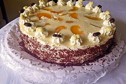 Pfirsich - Joghurt Torte mit Vanillehauch 33