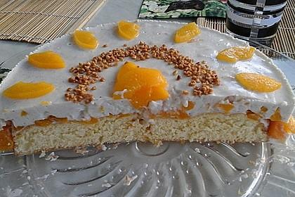 Pfirsich - Joghurt Torte mit Vanillehauch 36