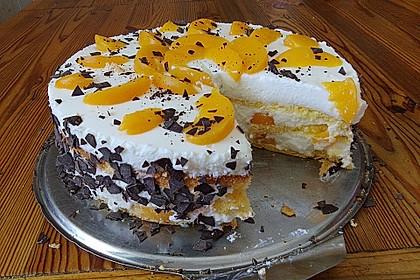 Pfirsich - Joghurt Torte mit Vanillehauch 23