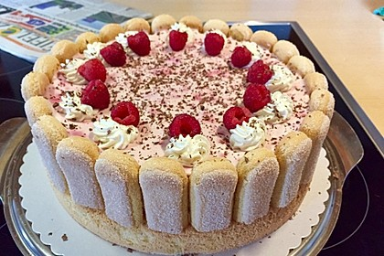 Quark Sahne Torte Mit Himbeeren Von Sandy07 Chefkoch De
