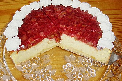 Schmand - Joghurt - Kuchen mit Rhabarberhaube 5