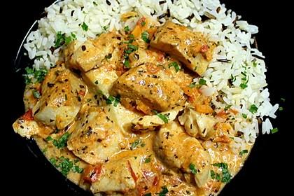Fischfilet in Tomaten - Estragon - Sauce