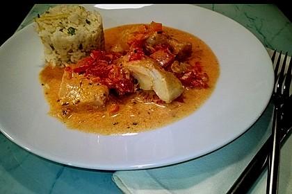 Fischfilet in Tomaten - Estragon - Sauce 8