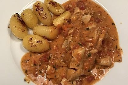 Fischfilet in Tomaten - Estragon - Sauce 9