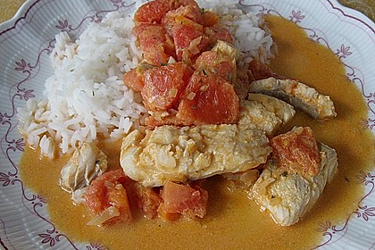 Fischfilet in Tomaten - Estragon - Sauce 22