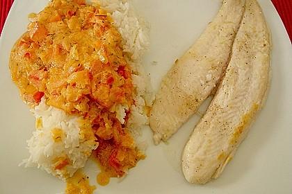Fischfilet in Tomaten - Estragon - Sauce 7