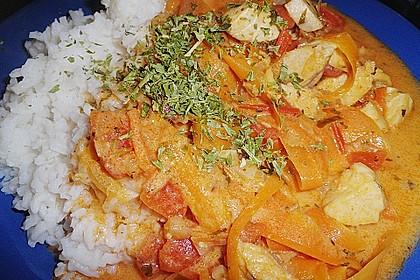Fischfilet in Tomaten - Estragon - Sauce 5