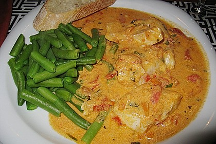 Fischfilet in Tomaten - Estragon - Sauce 4