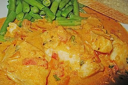 Fischfilet in Tomaten - Estragon - Sauce 19