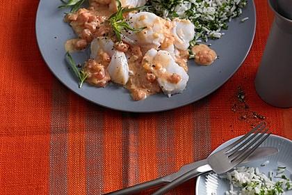 Fischfilet in Tomaten - Estragon - Sauce 10