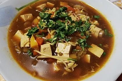 Misosuppe mit Gemüse und Tofu (Bild)