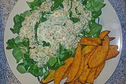 Feldsalat mit Belugalinsen und lauwarmen Süßkartoffeln 9