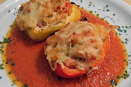 1A gefüllte Paprikaschoten mit Tomatenrahmsoße 9