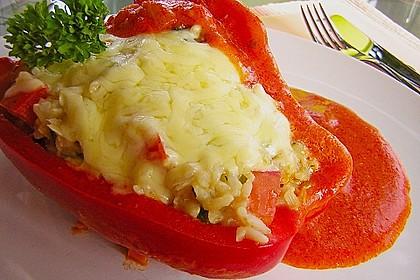 1A gefüllte Paprikaschoten mit Tomatenrahmsoße 4