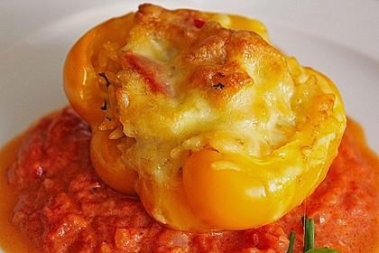 1A gefüllte Paprikaschoten mit Tomatenrahmsoße 7