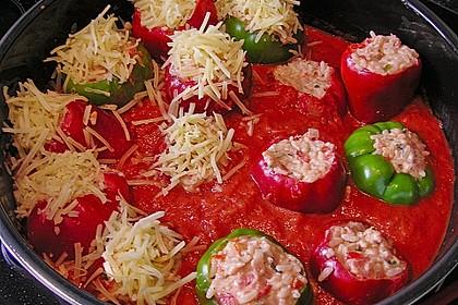 1A gefüllte Paprikaschoten mit Tomatenrahmsoße 10