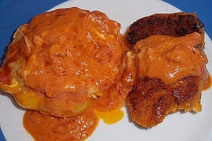 1A gefüllte Paprikaschoten mit Tomatenrahmsoße 24