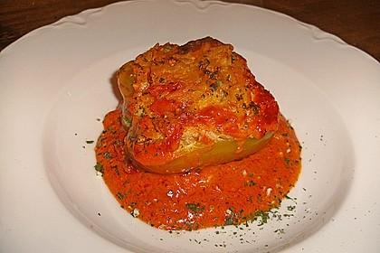 1A gefüllte Paprikaschoten mit Tomatenrahmsoße 6