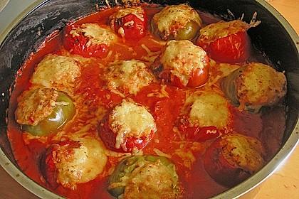 1A gefüllte Paprikaschoten mit Tomatenrahmsoße 12
