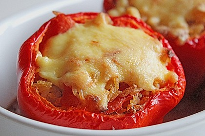 1A gefüllte Paprikaschoten mit Tomatenrahmsoße 3