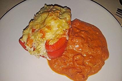 1A gefüllte Paprikaschoten mit Tomatenrahmsoße 16